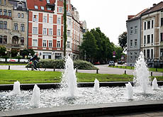 Brunnen am August-Bebel-Platz